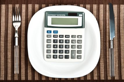 Calculator on Plate