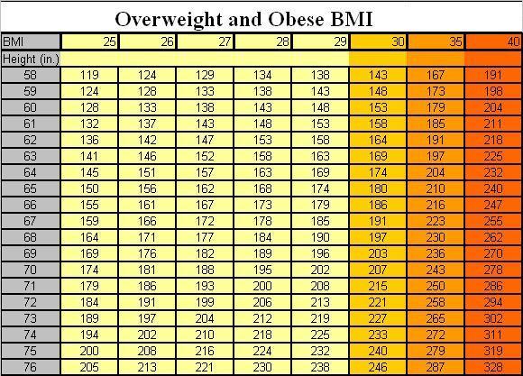 Overweight BMI