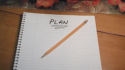 Plan with pencil