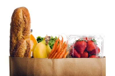 Grocery Bag with Carb Foods